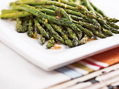 "Caroline's praise doesn't pull any punches: ""Best ever recipe for asparagus. Follow directions to a perfect side dish!"" This recipe uses all ingredients you probably have on hand now, and its salty-sweet-sour balance is ideal."