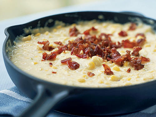 Best Grain Side Dish: Creamed Corn with Bacon and Leeks