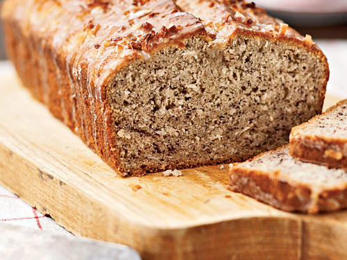 Coconut Banana Bread with Lime Glaze Recipe