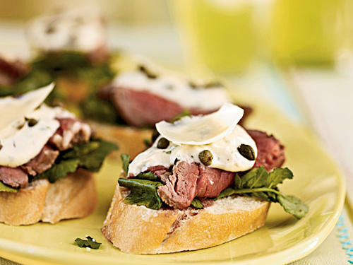 An appetizer-only menu can leave guests feeling hungry, unless it includes an item like this one: Hearty and meaty, but elegant and refined at the same time.