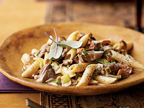 Penne with Wild Mushrooms