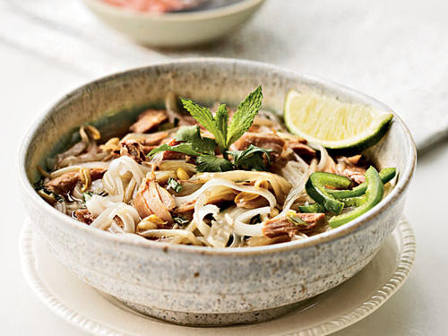A brothy noodle soup, pho is a Vietnamese specialty that puts Thanksgiving remainders to use in a refreshingly original way.