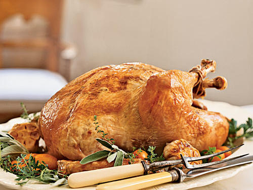 High-heat roasting makes this bird browned and beautiful, and truffle-scented homemade gravy makes it an extra-special treat. The holidays are a time for indulgence, and since this recipe calls for only a few ingredients, use the best quality you can.