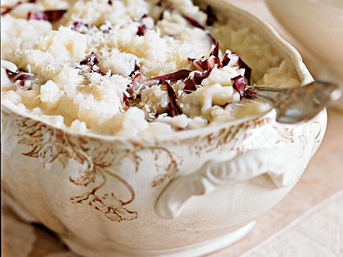 Healthy Risotto with Champagne and Radicchio Recipe