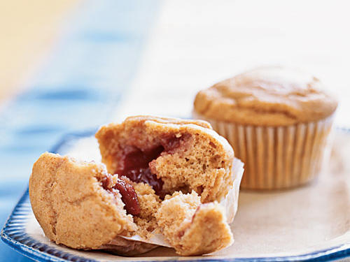 Many holiday recipes are made for dinner, but these playful muffins are perfect for a breakfast or brunch. Kids will love biting into an enchantingly peanutty whole wheat muffin and finding a pocket of sweet, fruity jam hiding inside.