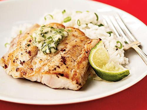 Broiled Red Snapper with Ginger-Lime Butter