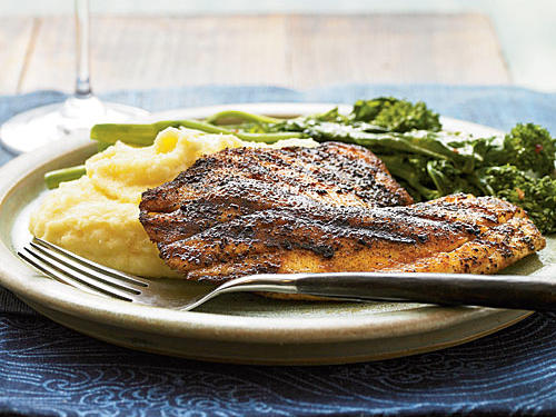 Smoky flavors and creamy polenta make this a deeply satisfying dinner that's quick enough for a weeknight meal, but sophisticated enough for company.