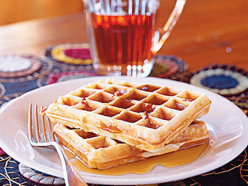 Bacon Maple Waffles Recipe