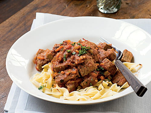 Roasted Tomato-Beef Goulash with Caraway