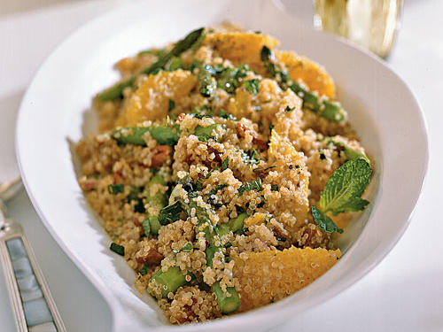 Quinoa Salad with Asparagus, Dates and Orange