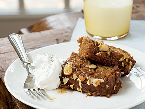 """I've been making oatmeal cake for my family for more than 45 years. Several years ago I revised the recipe, eliminating vegetable oil and using thick, chunky applesauce for added moistness. I replaced granulated sugar with honey, which gave the cake more flavor. The original frosting called for coconut, but I chose almonds, a more healthful option.""―Barbara Estabrook, Rhinelander, WisconsinVideo: Barbara Estabrook shares the story behind her recipe"