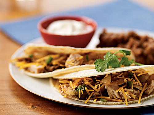 Sweet caramelized onion, spicy jalapeño, earthy mushrooms, and tangy sour cream give these tacos a whole spectrum of flavors, but they're still quick and easy to cook. Top with a little chopped raw onion or radish for crunch to add even more interest.