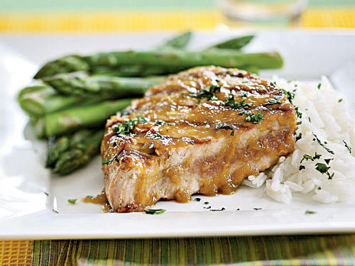 The clean, fresh flavor of ginger and the sinus-clearing heat of wasabi marry perfectly in this 5-ingredient meal. Briefly searing the tuna makes the dish extra-fast―five minutes marinating and three minutes cooking―and also leaves the fish medium-rare in the middle, the better to take advantage of its melt-in-your-mouth texture.