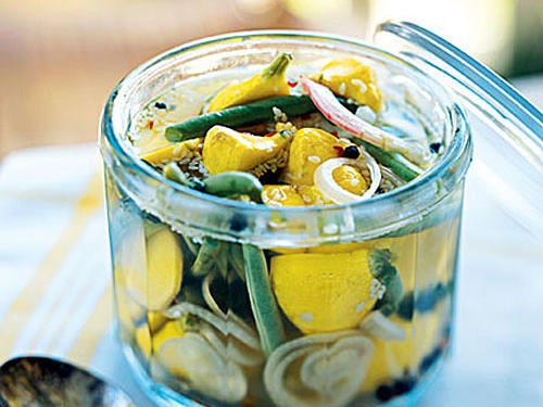 Sweet and Sour Pattypan Squash and Green Beans