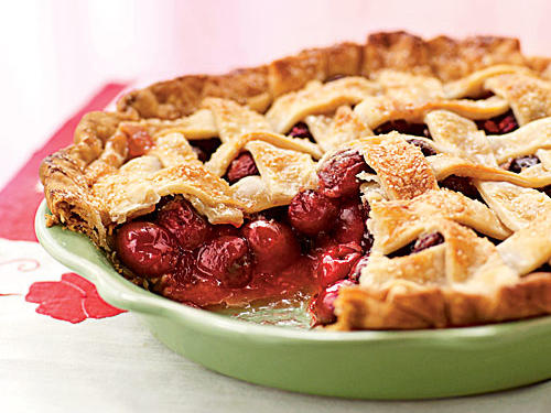 This not-too-sweet cherry pie is delicious on its own, and even better served warm with a scoop of vanilla ice cream.