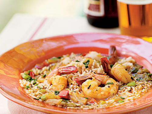 Shrimp Étouffée is a spicy Cajun classic that is traditionally served over white rice.