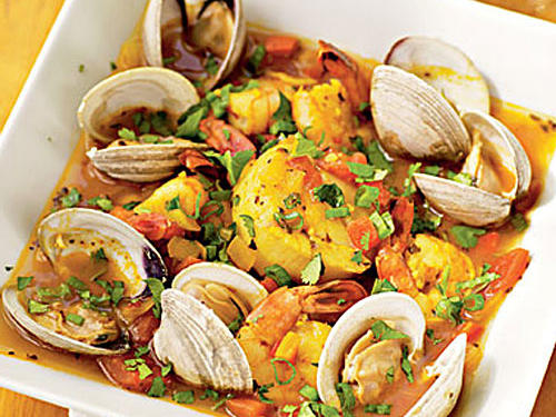 """Before cooking, soak the clams thoroughly to enhance their sweetness,"" advises the recipe developer, reader Gordon Katz. ""I place them in a container, cover with water, add a touch of cornmeal, and keep them cool in the fridge for about an hour."""
