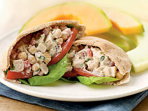 Healthy Mediterranean Chicken Salad Pitas Recipe