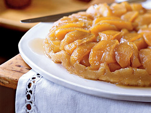 This iconic dessert was allegedly created by the Tatin sisters of France's Loire Valley. Legend is that while trying to repair a baking error, they ended up with this upside-down dessert of flaky pastry and apples bathed in caramel.