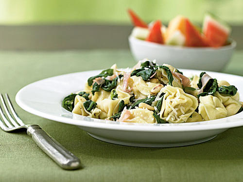 Pasta with Prosciutto and Spinach