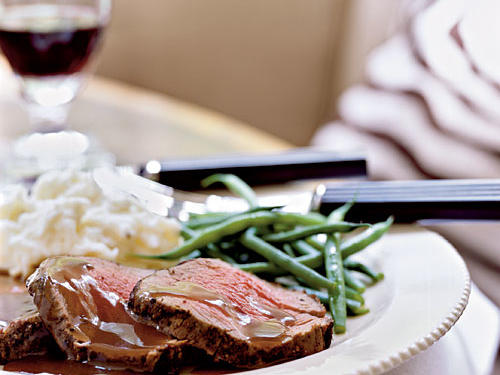 Mixed Peppercorn Beef Tenderloin with Shallot-Port Reduction Recipes
