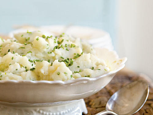 Smashed Potatoes with Goat Cheese and Chives Recipes