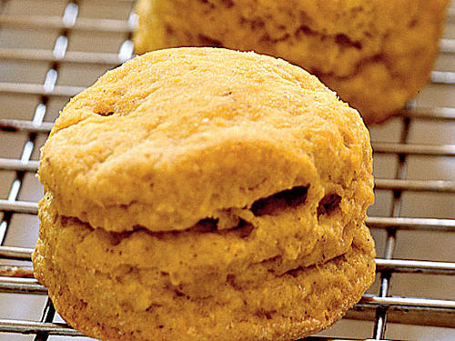 These simple pumpkin biscuits are perfect any time of day and pair perfectly with