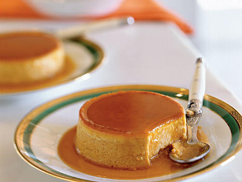 Double-Ginger Pumpkin Flans