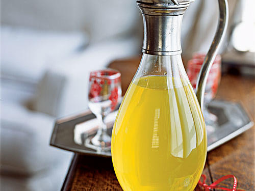 This Italian liqueur is good ice cold on its own, in a lemon drop martini, mixed with sparkling wine, or splashed over a bowl of fresh fruit. Since it takes two weeks to infuse the bracing citrusy flavor into the vodka, start this gift early and decant it into pretty sterilized glass bottles.