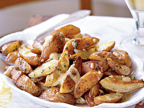 New Potatoes with Roasted Garlic Vinaigrette Recipes