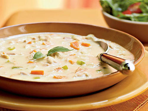 Filled with two types of meat and baking potatoes, this hearty soup will warm up your family on a cold night. For a complete meal, serve with an arugula salad.