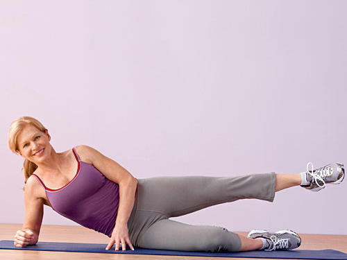 Side-lying leg lifts