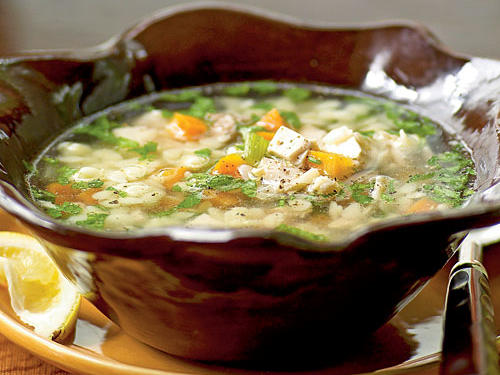 Lemon Chicken Orzo Soup Recipe