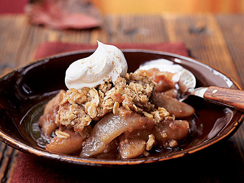 Pears and red wine combine beautifully in this dessert. Make sure that the pears are firm and not too ripe, or they will become mushy when cooked with the wine. Bosc and Anjou pears work well.