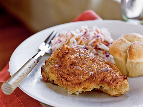 Buttermilk Oven-Fried Chicken with Coleslaw Recipes