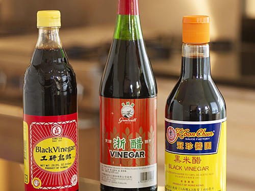 This assertively flavored rice vinegar is often used in stir-fries. Substitute: balsamic vinegar.