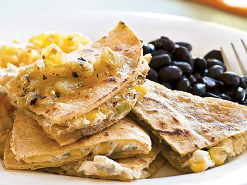 Goat Cheese and Roasted Corn Quesadillas