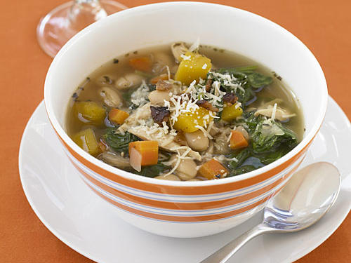 Healthy Tuscan Chicken, Bean, and Spinach Soup Recipe