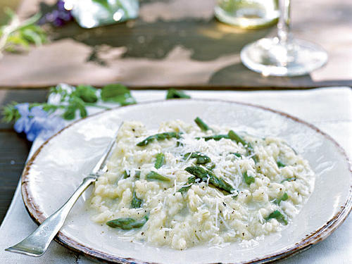 Healthy Spring Asparagus Risotto Recipe