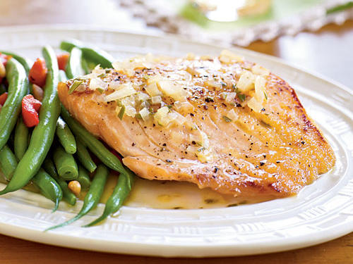 Fresh rosemary and a little maple syrup infuse aromatic and faintly sweet flavor into this speedy salmon dish.
