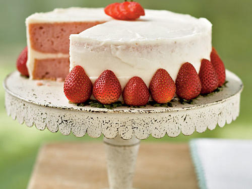 For a dessert that looks as good as it tastes, this Strawberry Layer Cake is an elegant treat for any occasion. Tip: you can use fresh orange juice instead of Grand Marnier in the cream cheese frosting.