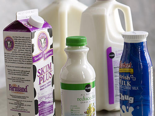 A gallon of milk may be cheaper per ounce, but if you don't use it all before it goes bad, you're pouring money down the drain. You'll save in the long run by buying half-gallons or quarts if that's all your family will use. A good rule of thumb is to buy only as much milk at a time as you think you'll use in a week.