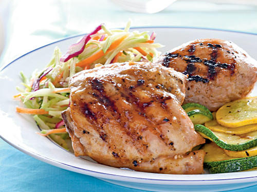 Apricot-Glazed Grilled Chicken