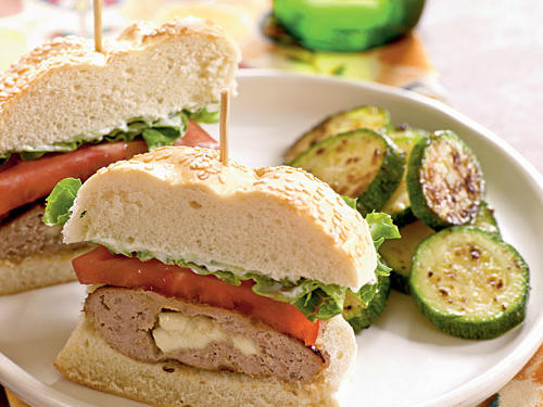 A simple yogurt-based sauce and a rich feta-and-spice stuffing makes these turkey burgers stand out above the rest. Pair with sautéed zucchini.