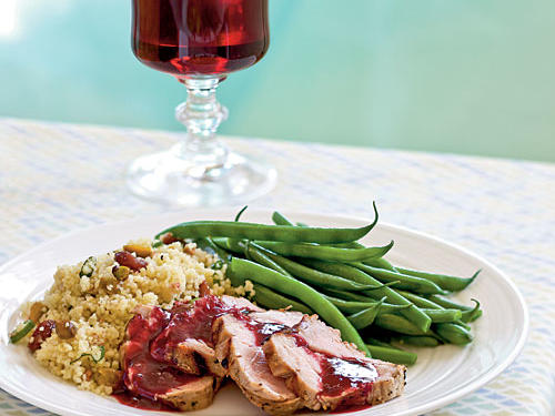 Grilled Pork with Blackberry-Sage Sauce