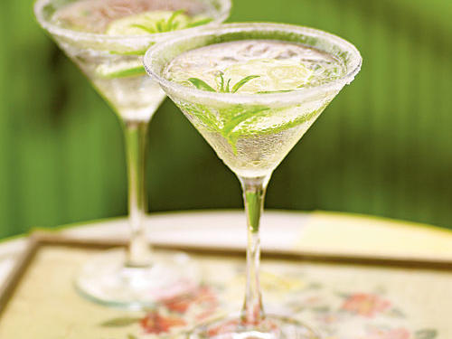The tartness of lime juice and the herbal freshness of verbena both make this cocktail taste light and refreshing. If the party's outside, pour these over ice to keep them cold, but for a more elegant look indoors, shake with ice in a cocktail shaker and strain into chilled martini glasses.