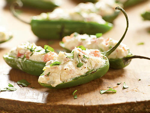 Under 100 Calorie Appetizer: Grilled Pepper Poppers