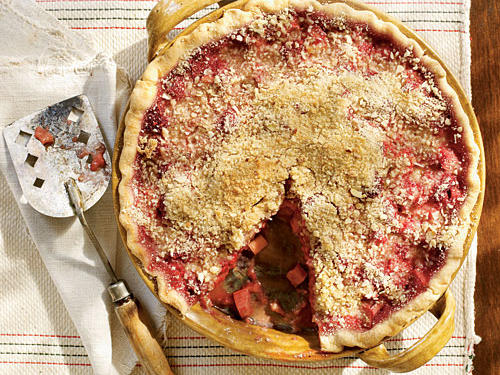Though a beloved pie classic, rhubarb has a strong tartness that sometimes needs moderating. Sweet raspberries do that job perfectly here, while a splash of crème de cassis adds even deeper berry flavor. A slice of this pie absolutely screams for a scoop of vanilla ice cream.