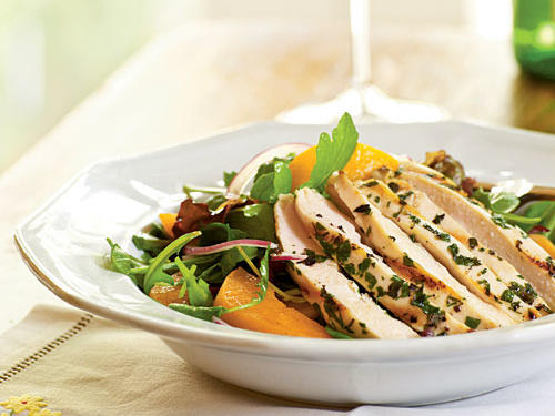 Arugula Salad with Chicken and Apricots