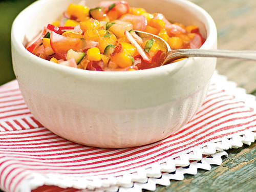 Nectarine and Radish Salsa recipe